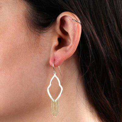 Fancy Drape Earrings 14K