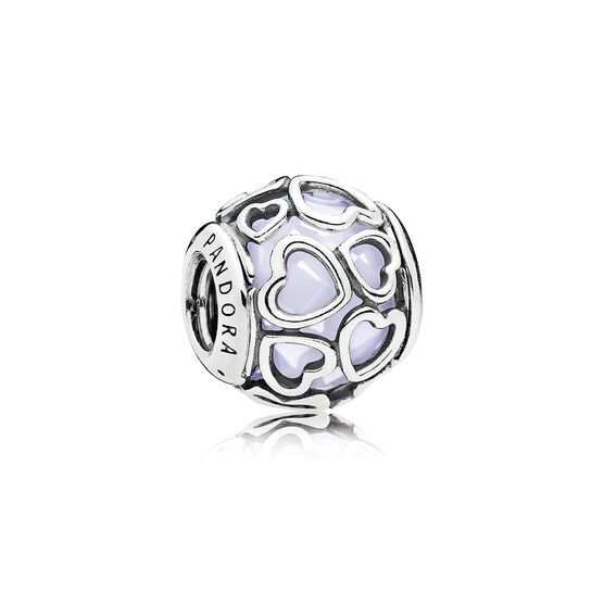 PANDORA Encased in Love White Charm