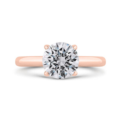 Bella Ponte Rose Gold Engagement Ring Setting 14K