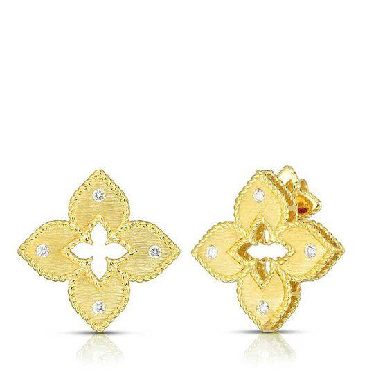 Roberto Coin Petite Venetian Princess Diamond Stud Earrings 18K