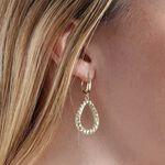 Toscano Open Pear Drop Earrings 14K