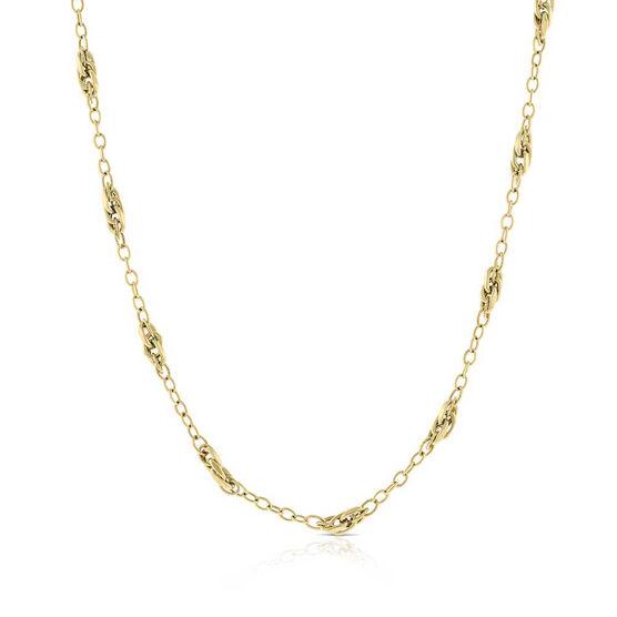 "Toscano Multi Link Station Chain Necklace 14K, 24"""