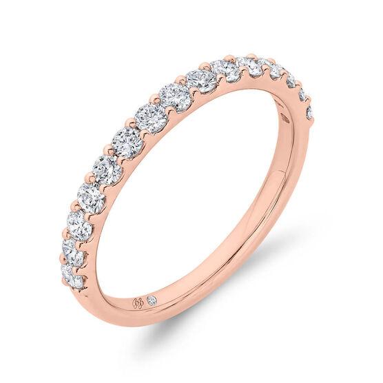 Bella Ponte Rose Gold Diamond Band 14K, 1/2 ctw.