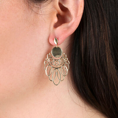 Toscano Satin Loopy Earrings 14K