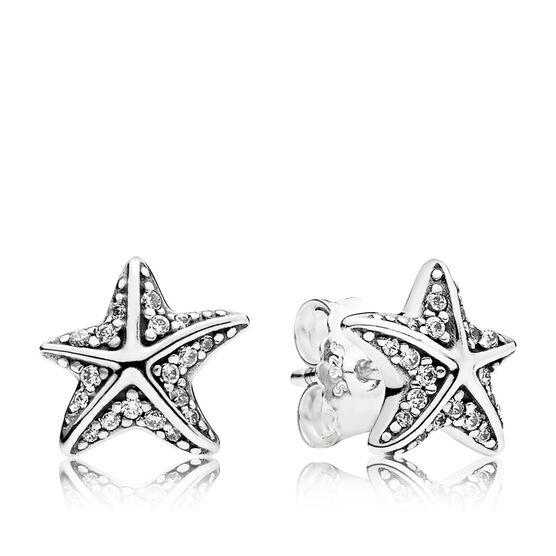 PANDORA Tropical Starfish CZ Earrings