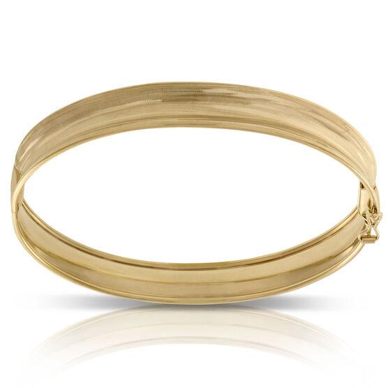 Toscano Textured Concave Bangle Bracelet 14K