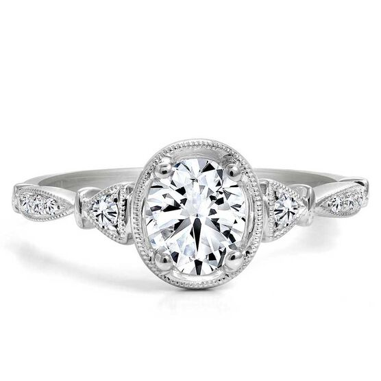 Forevermark Black Label 3/4 ct. Oval Cut Diamond Engagement Ring 18K