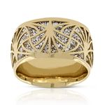 Toscano Laser Cut Out Ring 14K