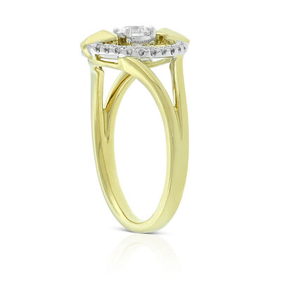 Jade Trau for Signature Forevermark Open Circle Diamond Ring 18K