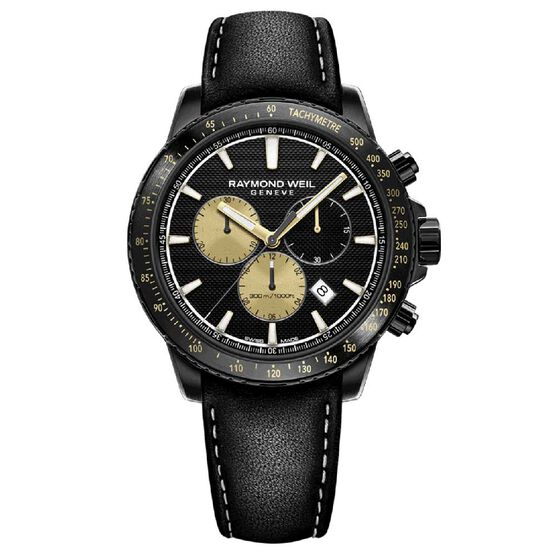 Raymond Weil Limited Edition Marshall Amplification Black PVD Chronograph Watch, 43mm