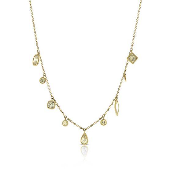 Brown & White Diamond Necklace 14K