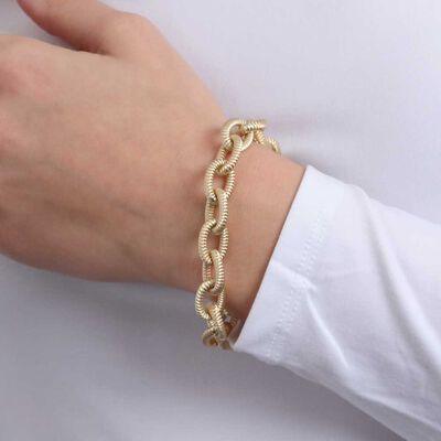 Toscano Satin Link Bracelet 14K