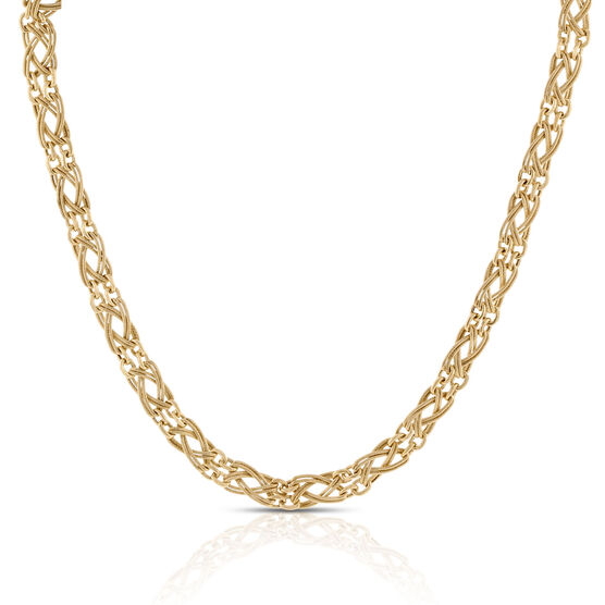 "Toscano Braided Necklace 14K, 18"""