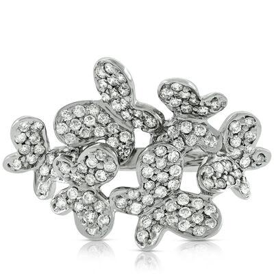 Butterfly Diamond Ring 14K