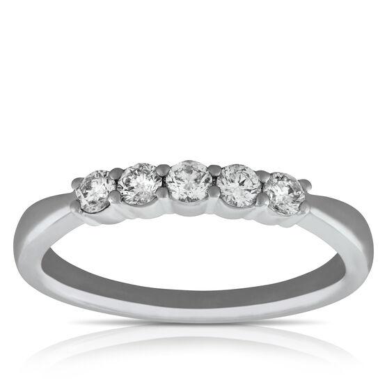 Diamond 5-Stone Band 14K, 1/3 ctw.