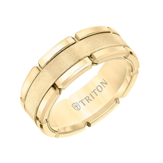 TRITON Contemporary Comfort Fit Band in Yellow Tungsten, 8 mm