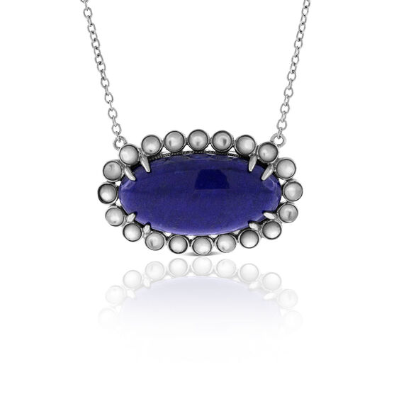 Lisa Bridge Lapis & Mother of Pearl Necklace
