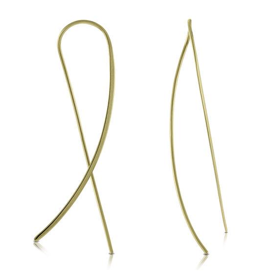 Crossover Threader Earrings 14K