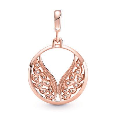 Pandora ME Burning Wings CZ Medallion Charm