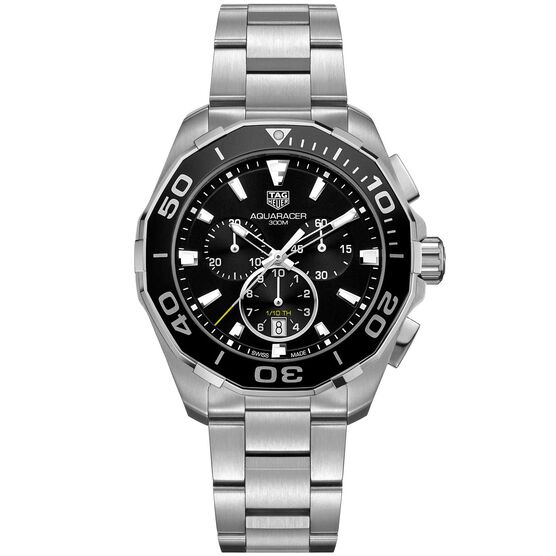 TAG Heuer Aquaracer Quartz Mens Black Steel Chronograph Watch