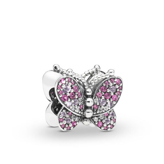 Pandora Dazzling Pink Butterfly Crystal & CZ Charm