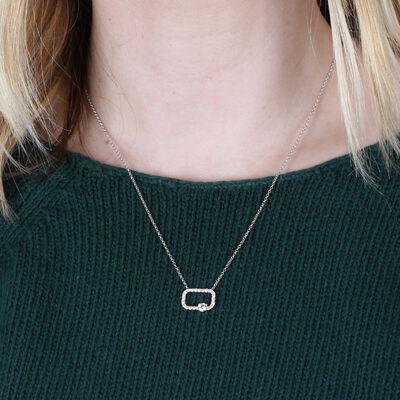 Signature Forevermark Open Square Diamond Necklace 18K