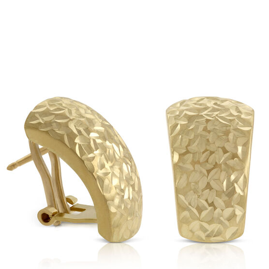 Toscano Tapered Half Hoop Earrings 18K