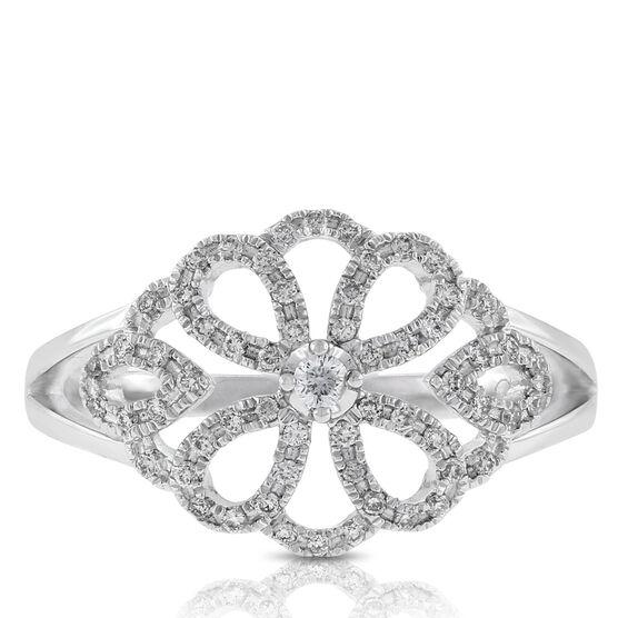 Floral Diamond Ring 14K