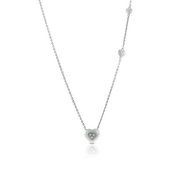 Lisa Bridge Hearts Combined Diamond Necklace