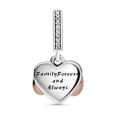 Pandora Rose™ Sparkling Infinity Heart Enamel & CZ Dangle Charm