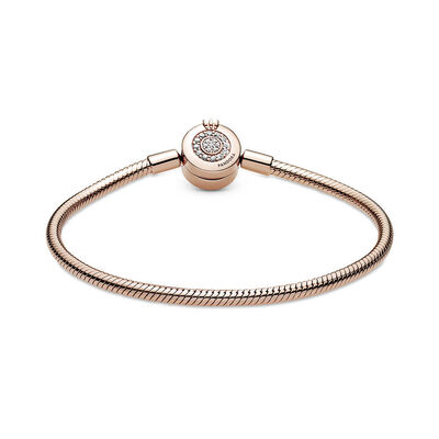 Pandora Rose™ Moments Sparkling CZ Crown O Snake Chain Bracelet