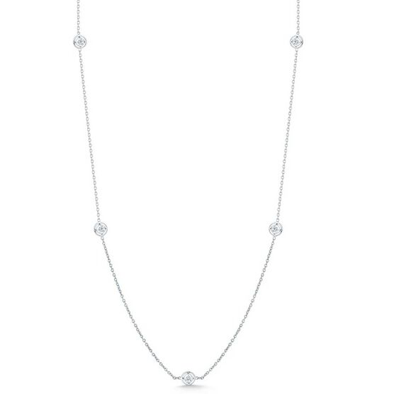 Roberto Coin Diamonds by the Inch 7-Station Diamond Necklace 18K