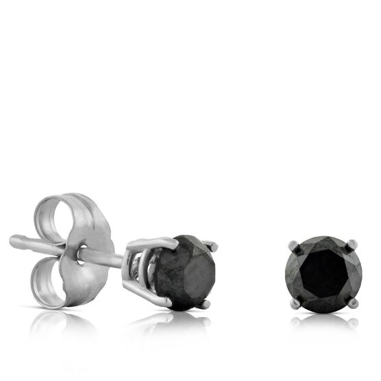Black Diamond Earrings 14K, 1/2 ctw.