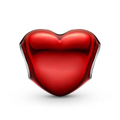 Pandora Metallic Red Heart Enamel Charm