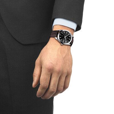 Tissot Gentleman Powermatic 80 Silicium Black Dial Watch, 40mm