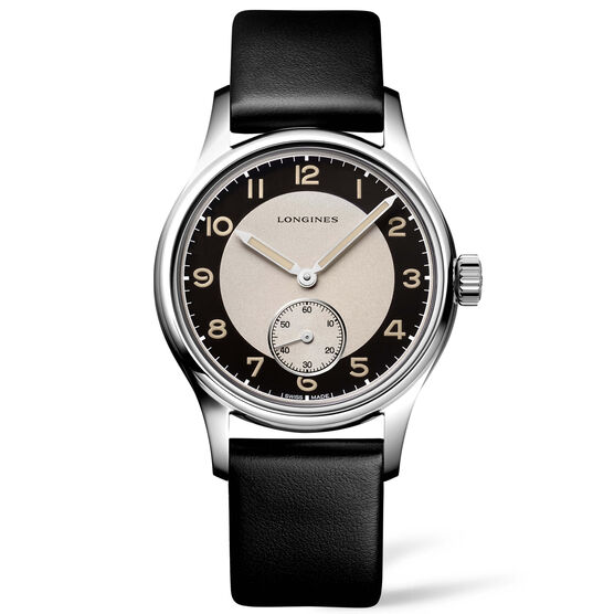 Longines Heritage Classic Tuxedo Leather Automatic Watch, 38mm