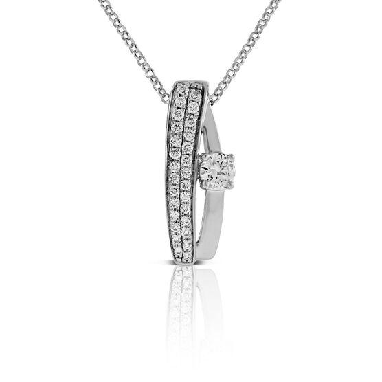 Ikuma Canadian Diamond Pendant 14K