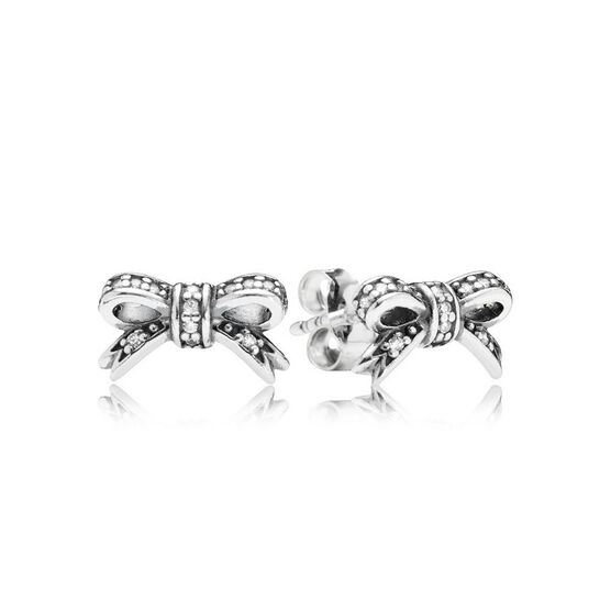 PANDORA Sparkling Bow CZ Earrings