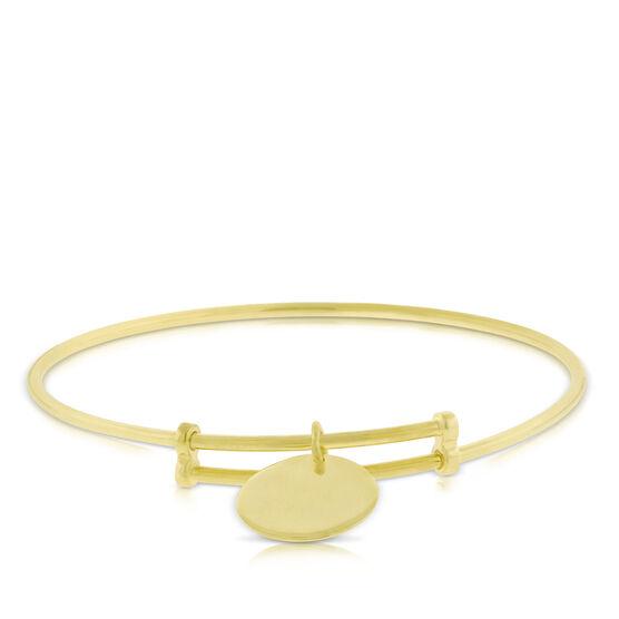 Sliding Bangle Bracelet 14K