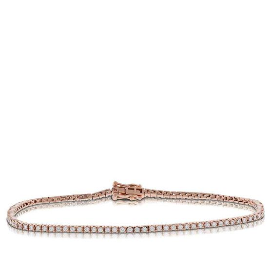 Rose Gold Diamond Tennis Bracelet 14K
