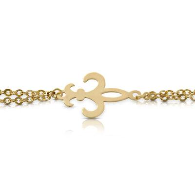 Fleur-de-Lis Bracelet 14K