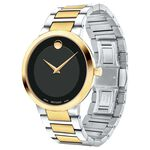 Movado Modern Classic Two-Tone Black Dial Watch