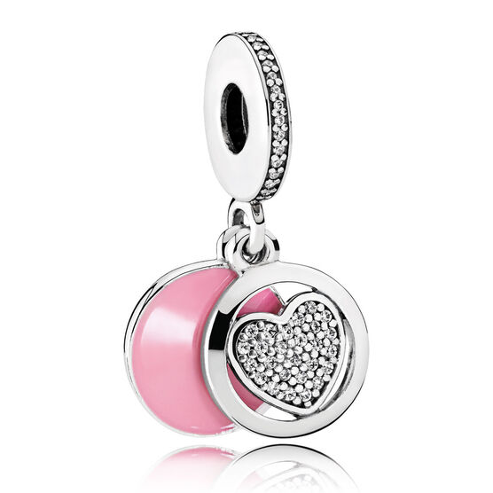 Pandora Devoted Heart Enamel & CZ Charm