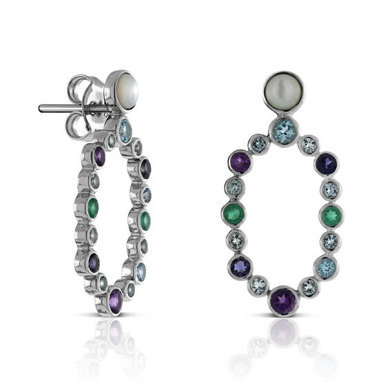 Lisa Bridge Scattered Gemstone Earrings