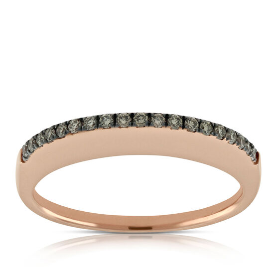 Rose Gold Brown Diamond Ring 14K