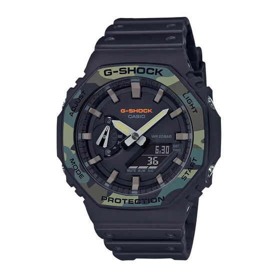 G-Shock Utility Color Camo Octogon Bezel Watch, 48.5mm