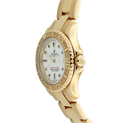 Pre-Owned Rolex Oyster Perpetual Lady-Yachtmaster Watch, 29mm, 18K