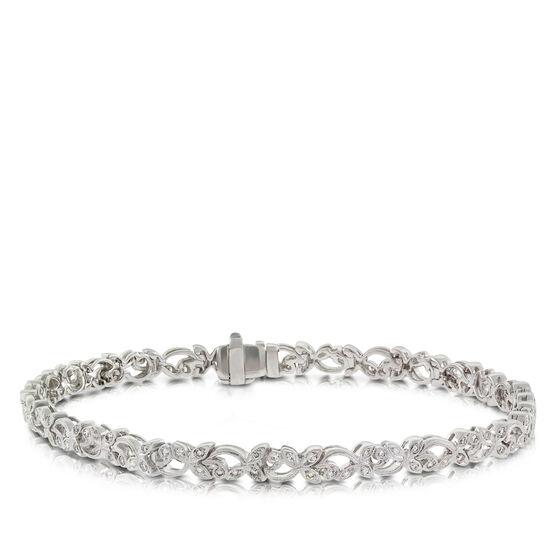 Floral Diamond Bracelet 14K