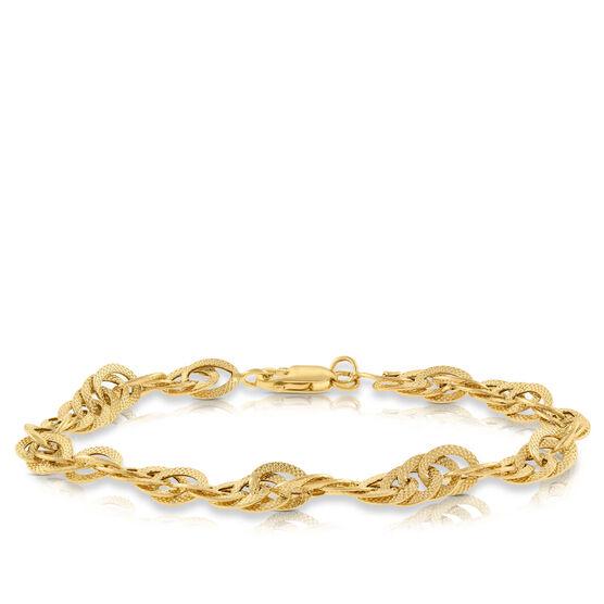 Toscano Interlocking Curb Chain Bracelet 14K