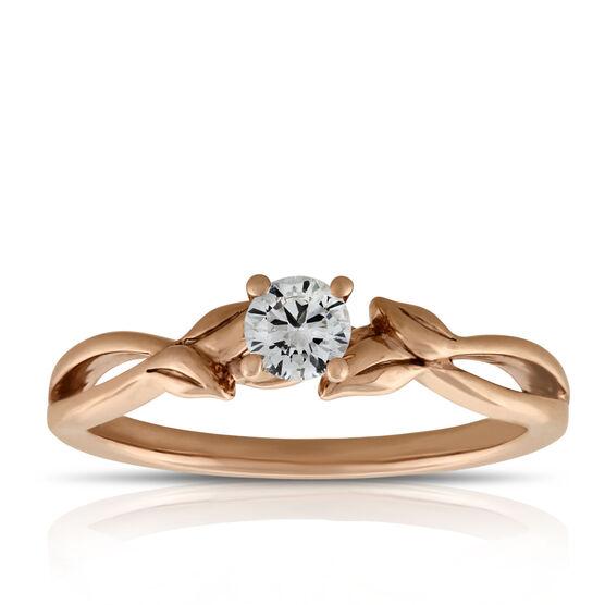 Rose Gold Ikuma Canadian Diamond Engagement Ring 14K